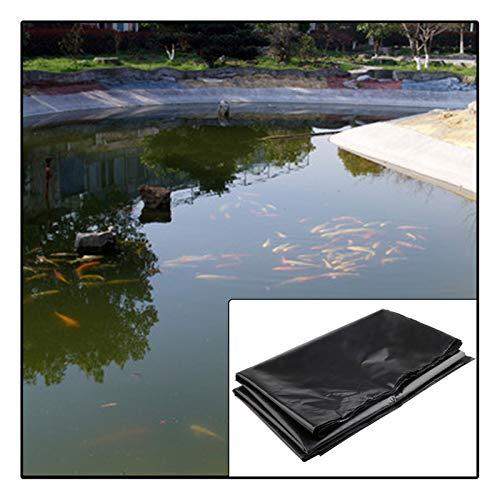 Teichfolie, Für Fischteich Bachbrunnen Hangschutz Verstärkte Pannensicherheit Großer Fischteich Liner Schwarz (Color : Black, Size : 5X6M)