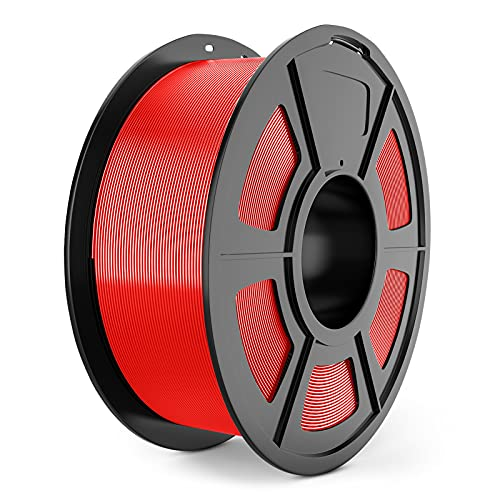 ABS Filament 1.75mm for 3D Printing, SUNLU ABS Filament Red 1.75 +/- 0.02 mm, 1KG/Spool for FDM 3D Printer