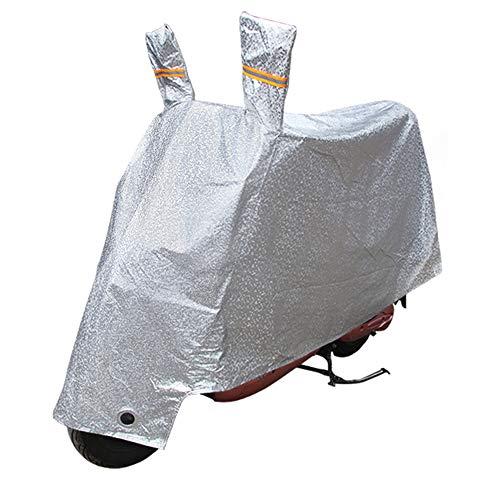 SHAO1 Coprimoto, Copri Moto Chiudibile A Chiave Copertura del Motociclo Parasole Antipolvere Antipioggia Resistente alla Pioggia (Argento),L