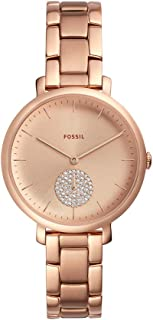 Fossil Womens Quartz Watch, Analog Display and Stainless Steel Strap ES4438