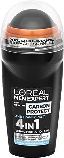 L'Oréal Men Expert Carbon Protect dezodorant, antyperspirant 4 w 1 chroni przed wilgocią pod pachami i zapachem ciała i za...