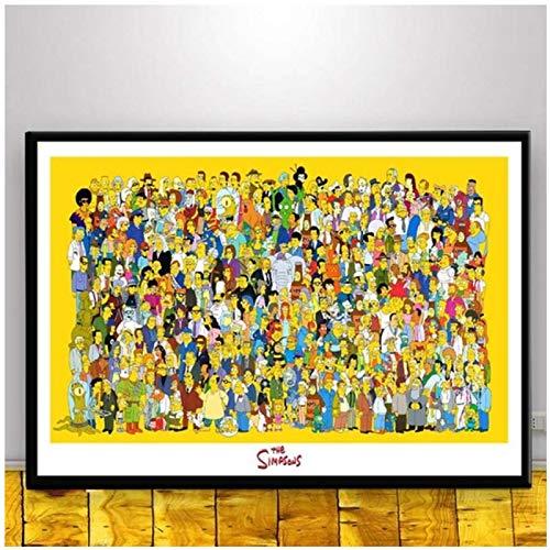 W15Y8 Niño Vio Un Coche Palabras Inspiradoras Lienzo Arte Pintura Cartel Sala De Estar Decoración Del Hogar Impresión En Lienzo-50X70Cm Sin Marco