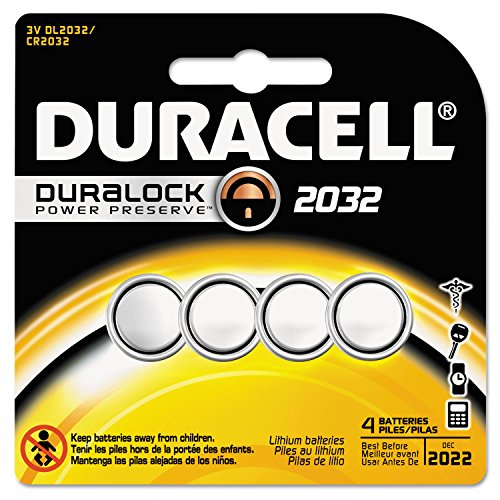 Duracell Lithium Medical Battery, 3V, CR2032, Lithium Batteries 4/Pack