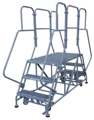 Work Platform, Dual Access, Steel, 30 In H
