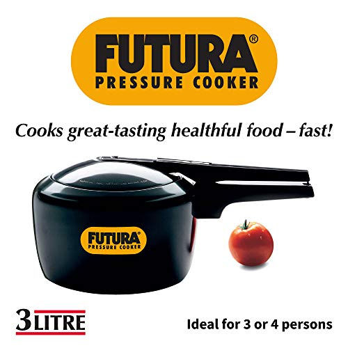 Hawkins Futura Hard Anodised Pressure Cooker, 3 Litre