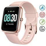 UMIDIGI Smartwatch Fitness Tracker Uwatch3, Armbanduhr Sportuhr Smart Watch für Damen Herren Kinder mit Herzfrequenz Schlaftracker 5 ATM Wasserdicht Kompatibel mit Android und IOS,Rosa Gold