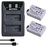 Batmax 2Pcs 1800mAh LP-E8 Battery + LED Built-in USB Dual Charger with Type C Port for Canon EOS Rebel T2i, T3i, T4i, T5i, Kiss X4, X5, X6, EOS 550D, 600D, 650D, 700D Digital Cameras