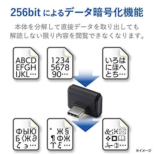エレコム『タブレット向けUSBType-C対応USBメモリ(MF-CDU31016GBK)』