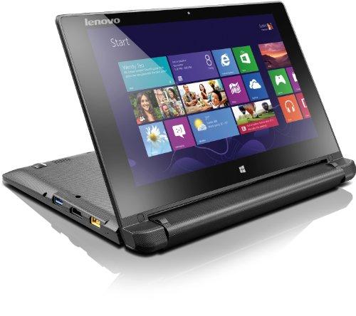 Lenovo Flex 10 25,6 cm (10,1 Zoll HD LED) Convertible Laptop (Intel Celeron N2806, 1,6GHz, 2GB RAM, 500GB HDD, Intel HD Graphics, Touchscreen, Win 8) schwarz