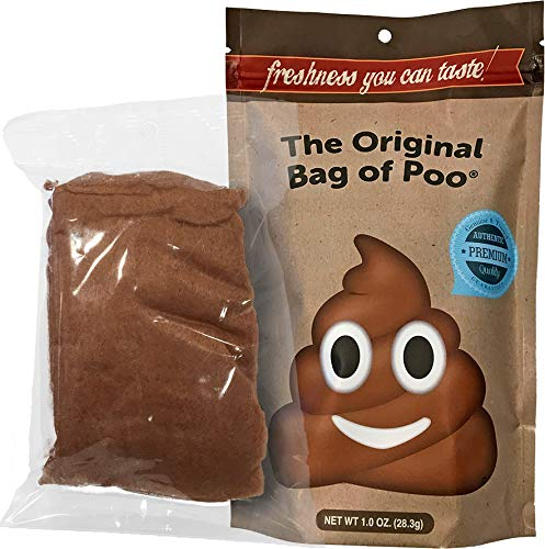 The Original Bag of Poo, Poop Emoji (Brown Cotton Candy) for Novelty Poop Gag Gifts