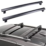ROADFAR Roof Rack Aluminum Top Rail Carries Luggage Carrier for 2011 2012 2013 2014 2015 2016 2017 2018 2019 for Jeep Grand for Cherokee 3.0L 3.6L 5.7L 6.2L Baggage Rail Crossbars Thule Roof Rack