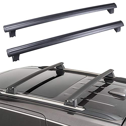 ROADFAR Roof Rack Aluminum Top Rail Carries Luggage Carrier Fit for 2011 2012 2013 2014 2015 2016 2017 2018 2019 for Jeep Grand Cherokee 3.0L 3.6L 5.7L 6.2L Baggage Rail Crossbars Thule Roof Rack -  104599-5231-1411595612