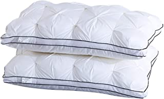 Weichuang Almohada 100% Cottton Almohadas cómodas de plumas tamaño King (19 x 21) almohadas blancas para dormir (color: blanco, tamaño: 1 pieza 48 x 74 cm)