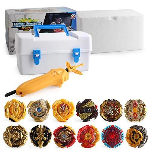 Beyblade Burst Turbo Set Gyro Burst Peonza Set 4D Bayblade juguete regalo + lanzador con caja