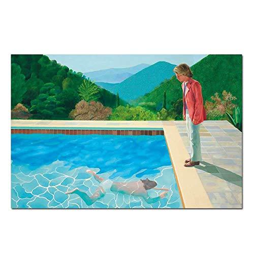 IGNIUBI Impresión de Pinturas en Lienzo póster en Piedra Paisaje Arte Piscina Retrato Pared Imagen para Sala de Estar decoración del hogar 50X70cm 20x28 Pulgadas sin Marco