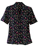 Donnkenny Printed Camp Shirt, Floral, Small