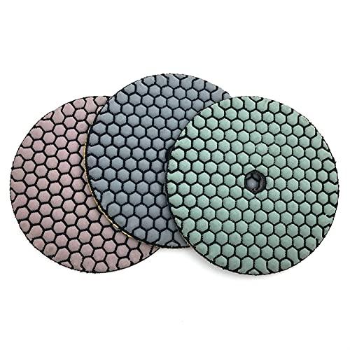 XIANGSHAN 10 unids/Set 5 Pulgadas de Pulido seco Almohadilla de Pulido de 125 mm de Resina Diamante Disco de mármol de mármol Herramienta de Pulido de Granito Abrasivo (Grit : 800, Size : 10 Pcs)