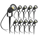 Lot de 10 Spot LED Cob 5W 220V Spots Jardin Orientables avec Piquet Luminaires Extérieur Jardin Terrasse