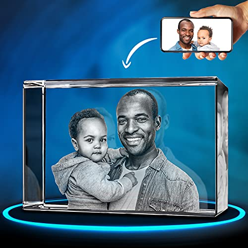 ArtPix 3D Crystal Photo Rectangle - Gifts for Dad Father's Day Gifts from Wife, Daughter, Son, Gifts for Dad, Grandfather, Father in Law, Step Father, Him & Men, Husband - Unique Fathers Day ...