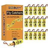 SCOBUTY Acchiappamosche, Fly Trap, Carta Moschicida, 16 Rotolini Trappole Adesive per Mosche Uso per...
