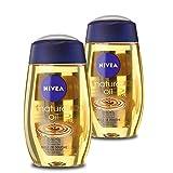 Nivea Natural Duschöl, 2er Pack (2 x 200 ml), milde Reinigung für trockene Haut, mit natürlichen...