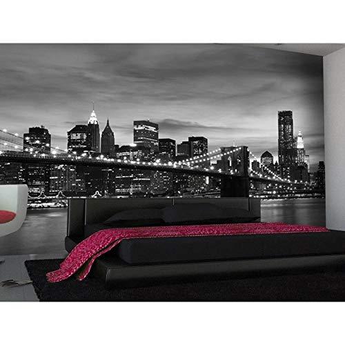 Fotobehang zwart wit USA Bridge wanddecoratie Poster Art verwisselbare muur muurschildering muurschildering foto Poster DIY decoratie-250x175 cm (98,4 bij 68,9 inch)
