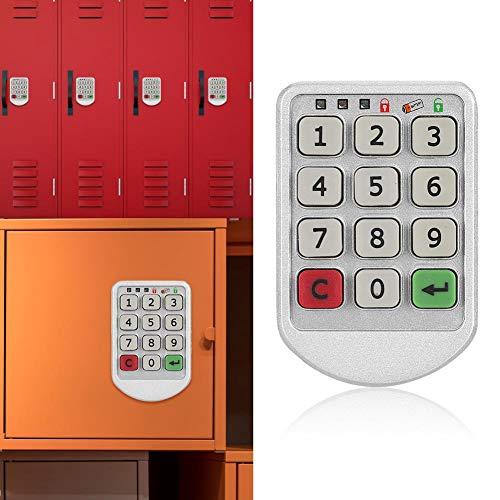 Set elektronische lockersloten, Slimme zinklegering Digitaal elektronisch wachtwoordbeveiligingsslot voor locker / kantoor / lade / opslag, Intelligente sleutelloze lockercode