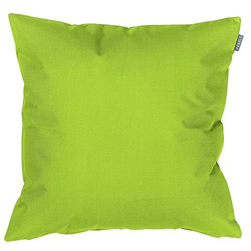 Coussin d'extérieur étanche à remplissage en fibres Décoration colorée Coussin pour chaises de jardin banc canapé 43 x 43 cm 43x43 vert citron