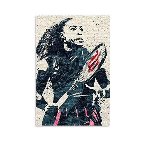 LKJHLK Póster de Serena Williams de tenis deportivo 4 para decoración de...