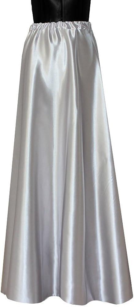 E K Women's Satin Maxi Skirt Long Formal & Evening Flowing Skirt