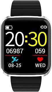 WF Pulsera Actividad Inteligente, Hombre con Pulsometro Monitor De Calorías Sueño Podómetro Pulsera Actividad Impermeable Ip67 Pulsera Inteligente para Android Y iOS