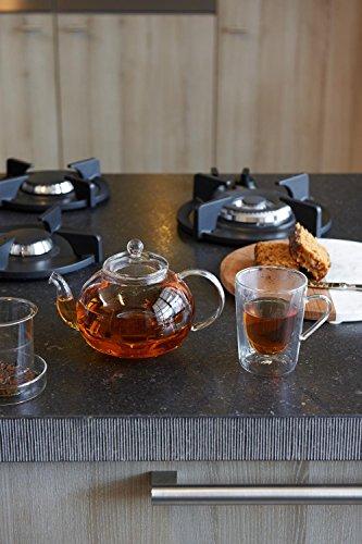 Bredemeijer Verona Single-Walled Glass Teapot, 14.9 x 23 x 15.6 cm