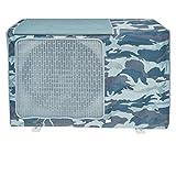 Cubierta de aire acondicionado exterior, tapa del climatizador para exteriores, antipolvo, antinieve, impermeable, protector de aire acondicionado (camuflaje azul marino, L)