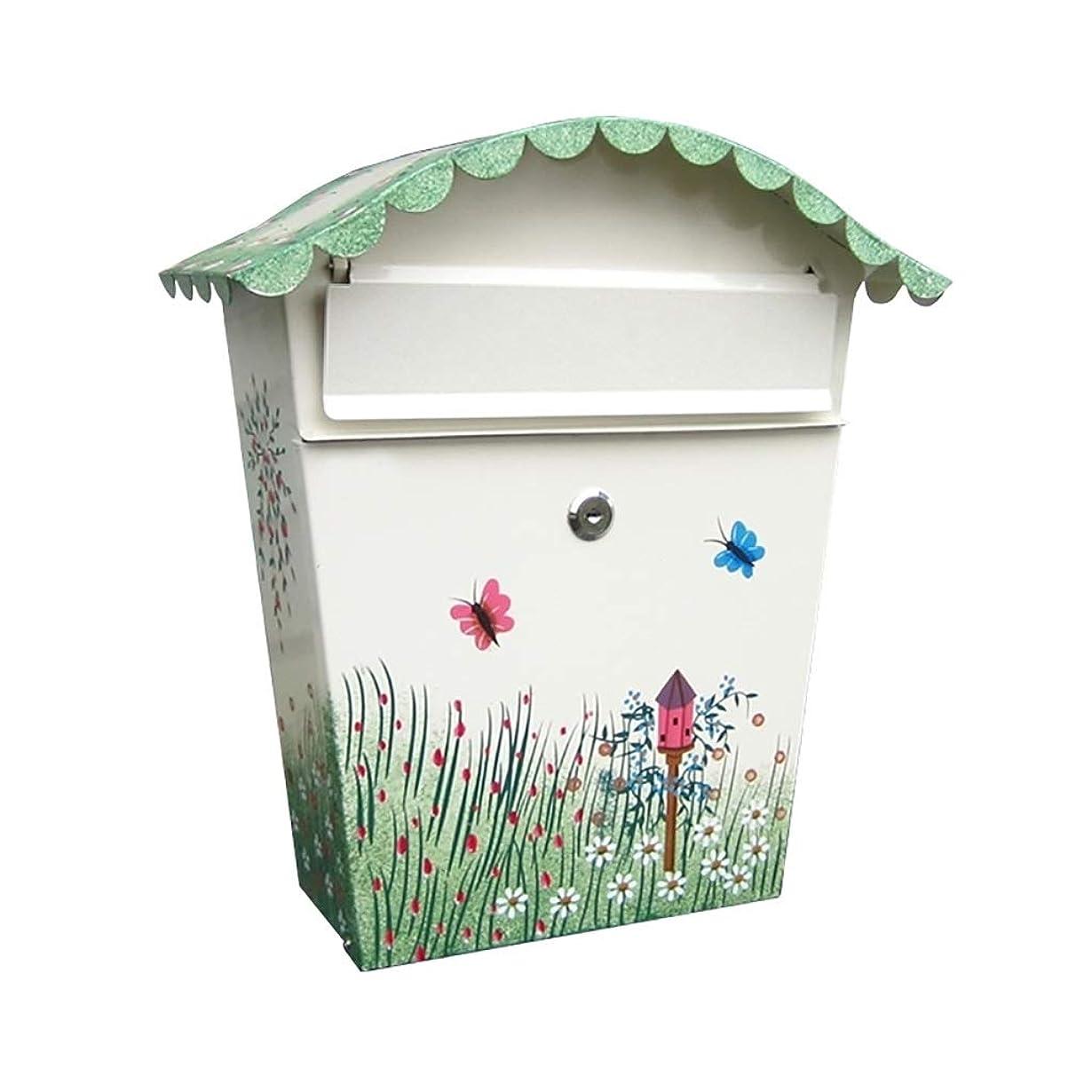 浜辺浜辺優しさ外郵便箱、壁掛けのロック郵便箱、安全な郵便箱、屋外の郵便箱、装飾的な郵便箱、サイズ36.5 * 34 * 13センチメートル (色 : B)