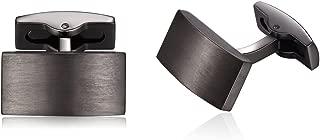 Honey Bear Cufflinks for Mens - Rectangle Stainless Steel, for Business Wedding Gift