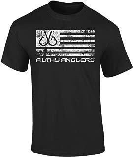 Fishing American Flag T-Shirt for Men & Women, Short Sleeve - Multiple Designs & Colors