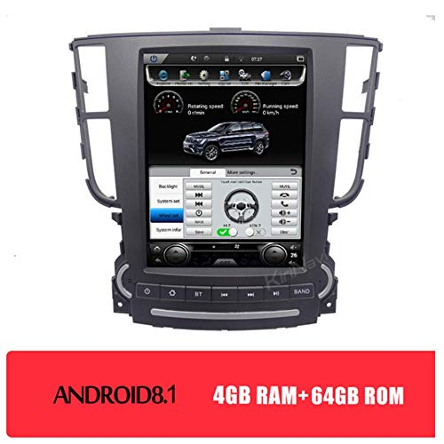 Best Deals! Tlyd Car GPS Navigation Android 8.1 9.7-Inch Vertical Screen Car Multimedia DVD Player S...