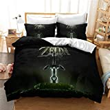 Stephen Bedding Sets - Home Textile Legend of Zelda 3D Bedding Set Cartoon Game Duvet Cover Set Pillowcase Queen King Double Bed linens Drop Shipping - by 1 PCs