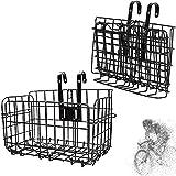 BAYINBROOK Cesta delantera para bicicleta – plegable y desmontable de malla metálica para bicicleta de liberación rápida para múltiples usos,Fácil Instalación Accesorios para Bicicleta De Montaña