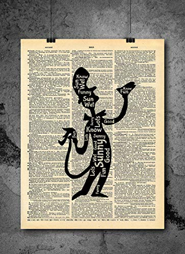 Dr. Seuss Quote Cat in the Hat Vintage Art - Wet Sunny Funny Authentic Upcycled Dictionary Art Print...