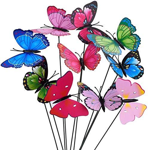 Goodquan Miniatuur Garden Fairy Ornament 10 stuks vlinders op sticker - 7cm Double Layer Wings