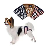 PETLESO Dog Nappies Dog Diapers 3-Pack Washable Reusable Dog Pant for Female Dog/Excitement-urination/Incontinence