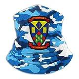 XXUU 2do Batallón 5to Marines Máscara bucal al aire libre a prueba de viento Mascarilla deportiva Pr...