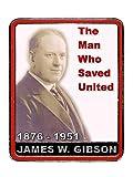 Manchester United FC James Gibson - Insignia de Manchester United F.C. - Regalo de recuerdo del club de fútbol de la Utd