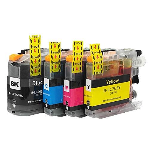 Cartucho de tinta compatible LC263 LC261, color negro y color para impresora Brother LC263 LC261 para usar con Brother DCP-J562DW MFC-J480DW MFC-J680DW MFC-J880DW
