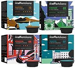 FRHOME - 100 Cápsulas de Café compatibles Lavazza a Modo Mio - kit degustación de 100 cápsulas café compatibles máquinas Lavazza a Modo Mio - Il Caffè italiano