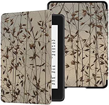 Kindle Paperwhite Cover Bluegrass Grass Meadow Summer Backlighting Pattern Cover  10th Generation-2018  with Auto Wake/Sleep