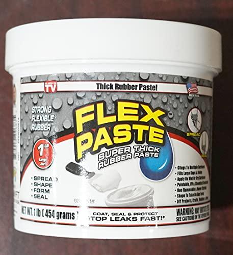 "Flex Seal Flex White Paste 1lb Jar w/Allway Tools Putty Knives 3 pack (1.5""/2""/3"") (2 Items)"