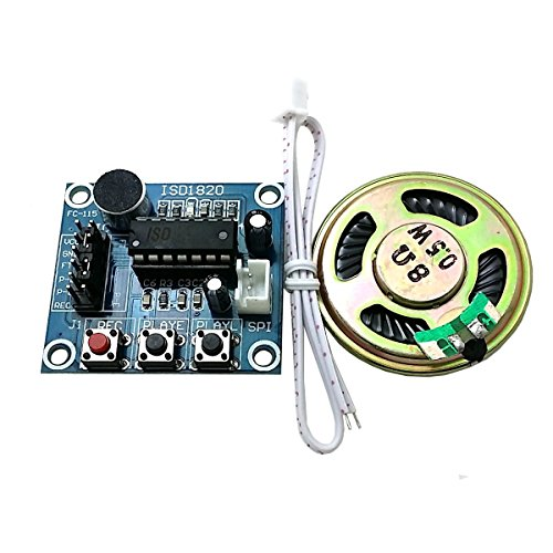 DollaTek Módulo ISD1820 Grabación Voz Sonido Audio Micrófono + Parlantes