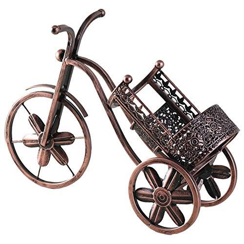 Estante de vino retro 3D para triciclo de vino, estante retro de hierro, soporte para barra de vino, accesorios para casa, soporte para botella de vino (color de la imagen)